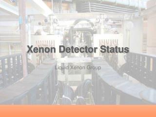 Xenon Detector Status