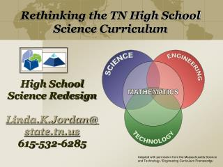 High School  Science Redesign Linda.K.Jordan@state.tn 615-532-6285
