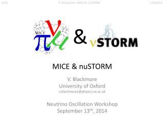 MICE &  nuSTORM