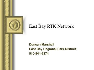 East Bay RTK Network