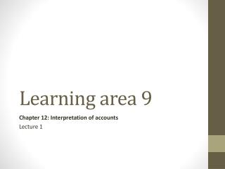 Learning area 9