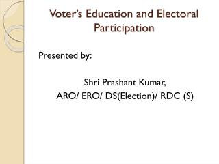 Voter's Education and Electoral Participation