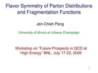 Flavor Symmetry of Parton Distributions and Fragmentation Functions