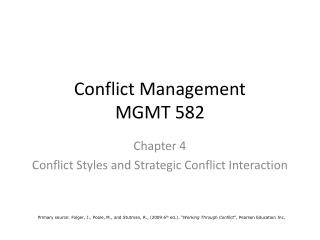 Conflict Management MGMT 582