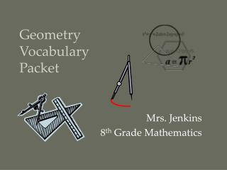 Geometry  Vocabulary  Packet