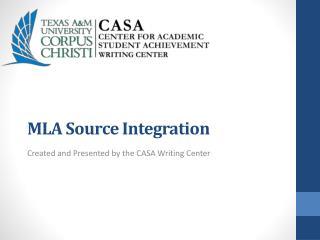 MLA Source Integration