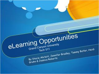 eLearning Opportunities Grand Canyon University Tech 511