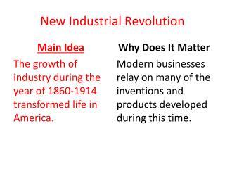 New  Industrial Revolution
