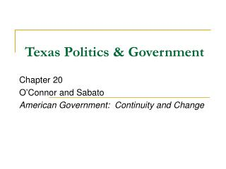 Texas Politics & Government