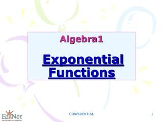 Algebra1 Exponential Functions