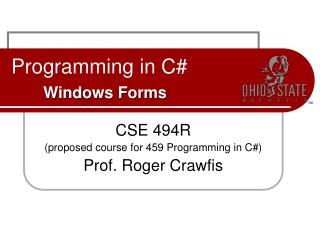 Programming in C# Windows Forms