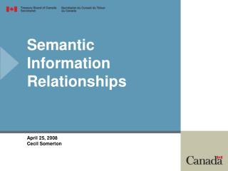 Semantic Information Relationships