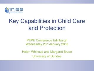 Key Capabilities in Child Care and Protection