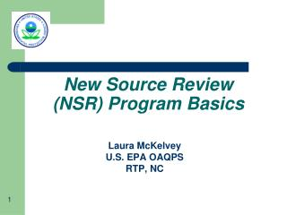 New Source Review (NSR) Program Basics
