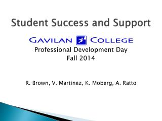 Student Success and Support