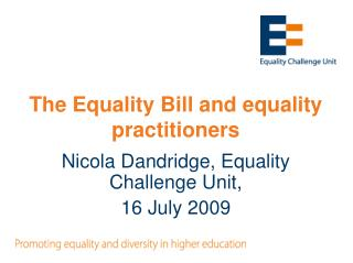The Equality Bill and equality practitioners