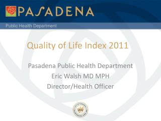 Quality of Life Index 2011