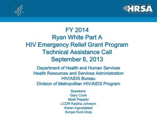 Department of Health and Human Services Health Resources and Services Administration