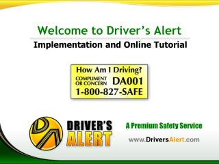 Welcome to Driver�s Alert