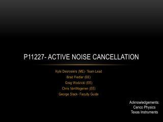 P11227- Active noise cancellation