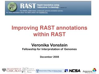 Improving RAST annotations within RAST