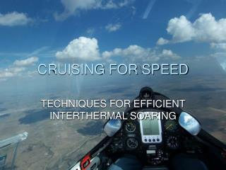 CRUISING FOR SPEED