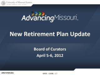 New Retirement Plan Update