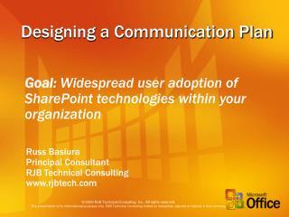 Designing a Communication Plan