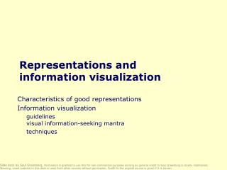 Representations and information visualization