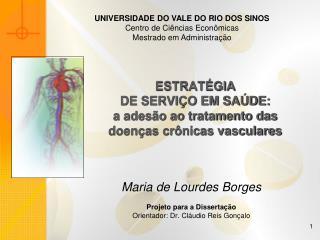 ESTRAT GIA  DE SERVI O EM SA DE:  a ades o ao tratamento das  doen as cr nicas vasculares
