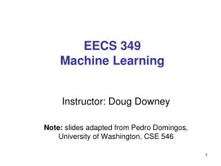 EECS 349 Machine Learning