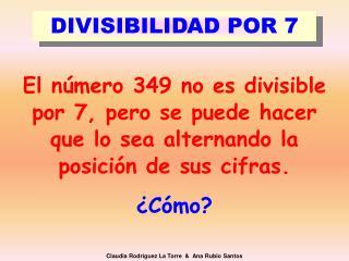 DIVISIBILIDAD POR 7