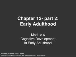 Chapter 13- part 2: Early Adulthood