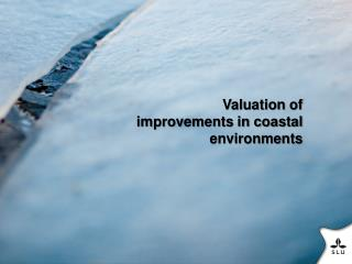 Valuation of improvements in coastal environments
