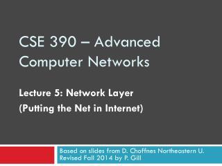 CSE 390 – Advanced Computer Networks