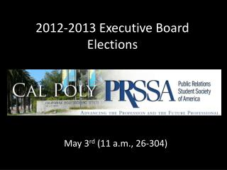 2012-2013 Executive Board Elections