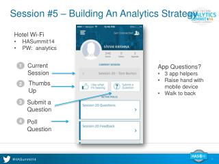 Session #5 – Building An Analytics Strategy