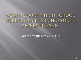 Worth County High School Work-Based Learning/Youth Apprenticeship