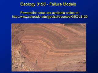 Geology 3120 - Failure Models