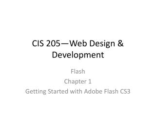 CIS 205—Web Design & Development