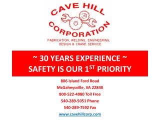 ~ 30 YEARS EXPERIENCE ~ SAFETY IS OUR 1 ST  PRIORITY