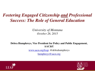 The Role of Undergraduate Research in Liberal Education