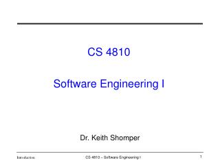 Dr. Keith Shomper