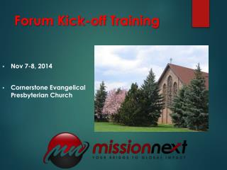 Forum Kick-off Training