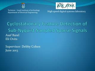 Cyclostationary Feature Detection of Sub- Nyquist  Sampled Sparse Signals