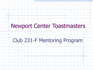 Newport Center Toastmasters