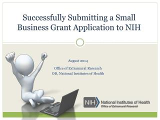 Successfully Submitting a Small Business Grant Application to NIH