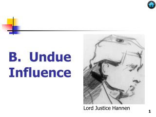 B.  Undue Influence