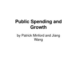 Public Spending and Growth