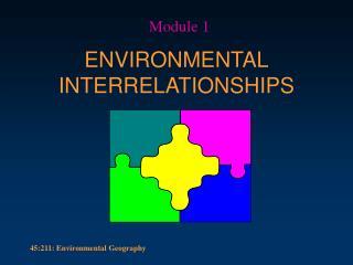 ENVIRONMENTAL INTERRELATIONSHIPS
